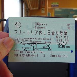 週末に道央圏の普通列車が1日乗り放題のフリーきっぷ!当日発売限定!JR北海道 一日散歩きっぷ