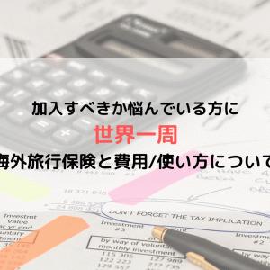 《世界一周準備》海外旅行保険は加入必須??必要な知識と実際にかかった費用/使い方