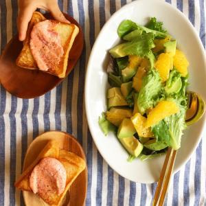 柑橘ドレッシングのサラダ