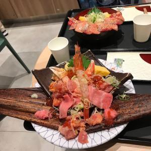 海鮮丼でまんぷくランチ