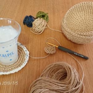 残り糸を使って小物編み