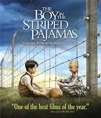 縞模様のパジャマの少年