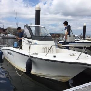初のレンタルボート操船!