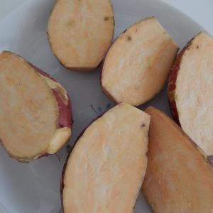 安納芋を焼き芋に