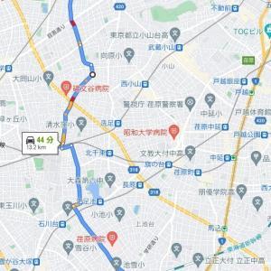 渋谷~蒲田 最短距離を考える