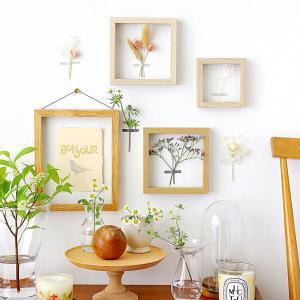 【アイデア】フレームとお花で楽しむ簡単ディスプレイ♪