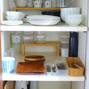【暮らしの見直し】食器棚にゆとりを作ってゆったり収納♪