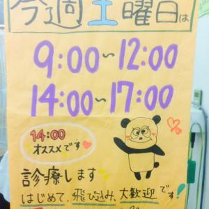 10日土曜日は通常診療です。