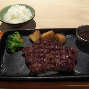 小倉の商店街でランチにステーキ食べました