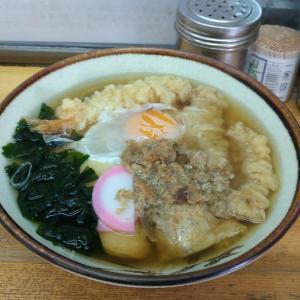 若松駅で久しぶりに立ち食いうどん食べました