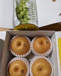 母から果物が届きました(^▽^)/