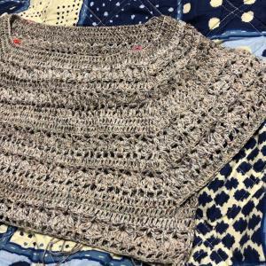 衿ぐりから編むサマーPO その2