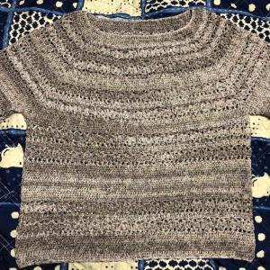 衿ぐりから編むサマーPO その4