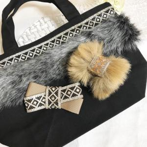 【リボンレッスン】Pave fur bag  by and R