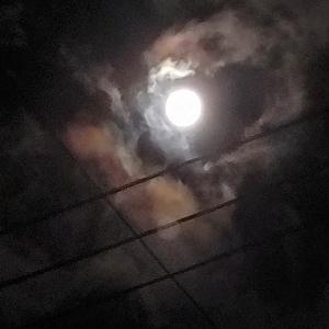 女性と月と女性のお月様