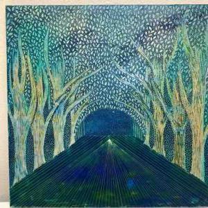 スクラッチ画…森の向こう