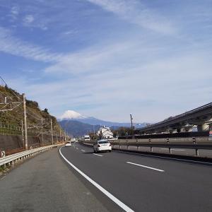 冬の富士山を見ながら
