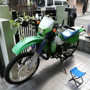 KDX125SR 不動バイクのキャブオーバーフロー修理フロートバルブAssy交換