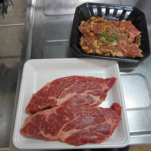 肉をたくさん食べる