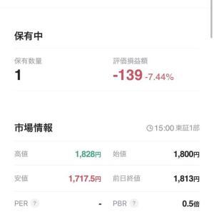 JAL株を買い足そうか悩んでるだが(現在-7.44%)