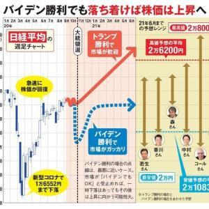 アメリカ大統領選の結果によって日本株がどう動くか考える→