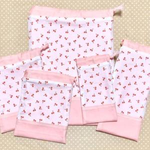 ミシン教室★切替タイプの巾着袋