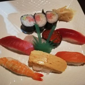 「蛇の目」で寿司ディナー