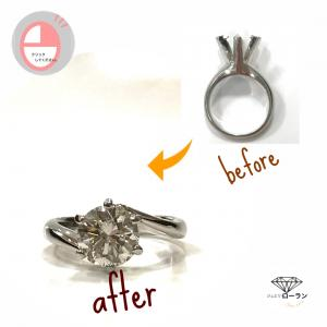 2.0ctのダイヤモンド ~形見の指輪
