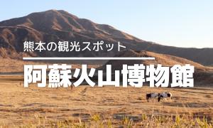 【熊本の観光スポット】阿蘇火山博物館