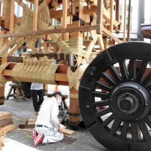 祇園祭、鉾建て2021