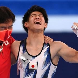 男子個人総合、橋本金メダル