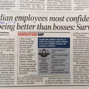 世界一の自信家:「上司より仕事ができる」:インド人