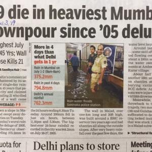 ムンバイ豪雨で29人死亡:帰宅は迅速に