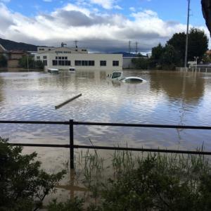 長野県松代町、眞田家の里での水害。現地からの写真