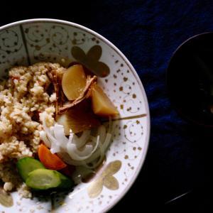 ツナ と 新玉、梅酢、ローズマリー。
