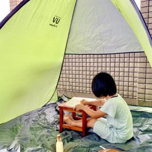お家でキャンプごっこなど^^