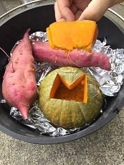 かぼちゃのハチミツ蒸し焼き