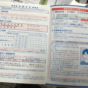 木津川市城山台 コロナ禍で木津署へ免許更新に行ってきました