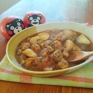 くまモントマト可愛い〜 あったかレシピ 熊本県産トマト