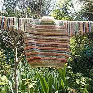 手紡ぎセーター
