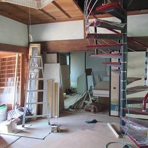 古民家、改装中(これまでに掛かった費用は?)