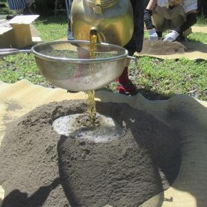 お茶漬けの日々 その3 (湿し灰作り(茶道)