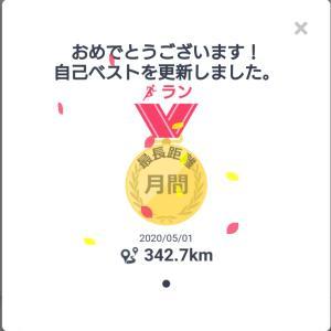 5月の月間走行距離とひとりフルマラソンの感想~今日は麦茶の日