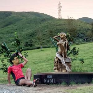 【ONE PIECE】ナミの銅像との自撮りランと連休中のラン記録~今日は敬老の日