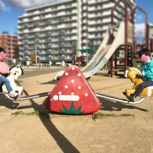 公園と葉っぱ遊び!
