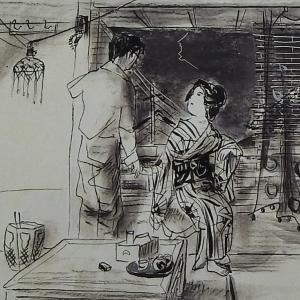 濹東綺譚の挿絵生まれる   永井荷風と東京 展