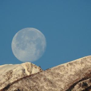 今朝早朝 山に入る月   建国記念日