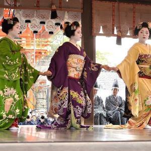 お手てつないで  八坂神社節分会    京都の友よりの写真と文