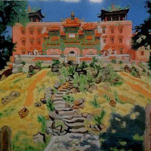 旧満州国承徳の喇嘛廟  1,937年  安井曾太郎展