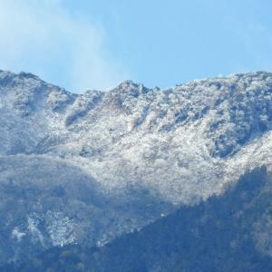 木曽山脈初冠雪 昨日朝見る  画像2回クリック大きくなります